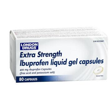 London Drugs Extra Strength Ibuprofen Liquid Gel Capsules - 400mg - 80's