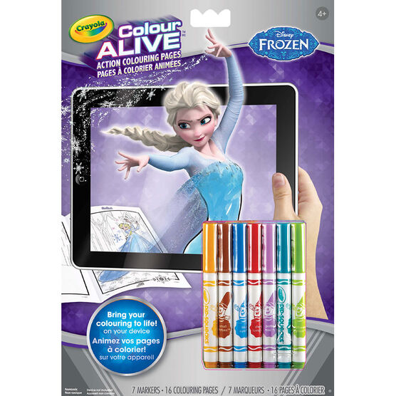 Crayola Colour Alive Colouring Book - Frozen