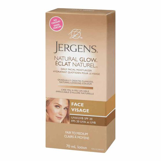 Jergens Natural Glow Face Daily Moisturizer - Medium Skin Tones - 70ml