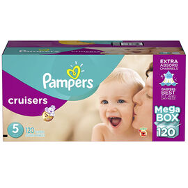 Pampers Cruisers Diapers - Size 5 - 120s