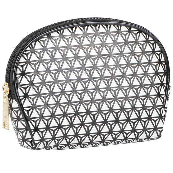 Modella Modern Black & White Small Round Top Bag - A001320LDC