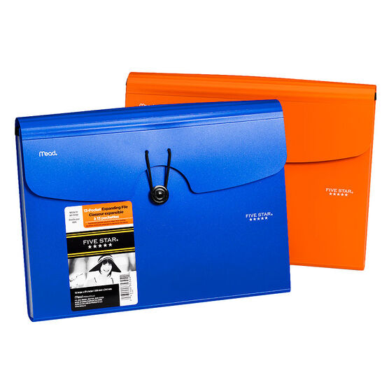 Five Star 13 Pocket Expandable File - Assorted