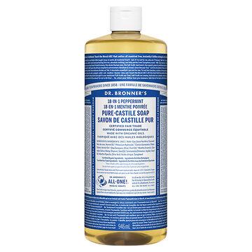 Dr. Bronner's Liquid Pure-Castile Soap - Peppermint - 944ml