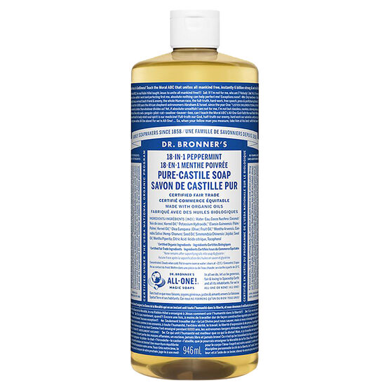 Dr. Bronner's Liquid Pure-Castile Soap - Peppermint - 944ml