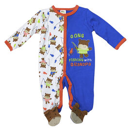 Baby Mode Gone Fishing Coverall - 6682 - Assorted
