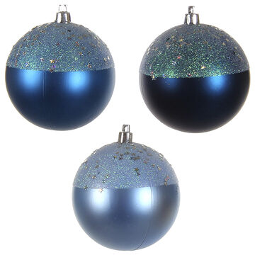 Winter Wishes Blue Ice Ball Ornament - Blue - Assorted