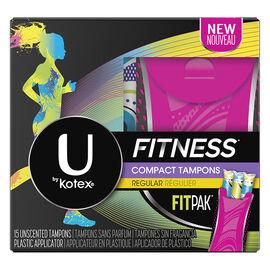 U by Kotex Fitness Compact Tampons - Regular - 15's