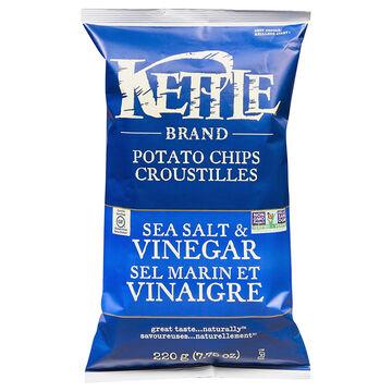 Kettle Brand Potato Chips - Sea Salt and Vinegar - 220g