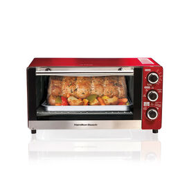 Hamilton Beach Convection Toaster Oven - Metallic Red/Stainless Steel - 31806C