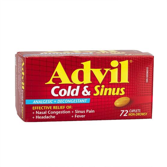Advil Cold & Sinus Caplets  - 72's