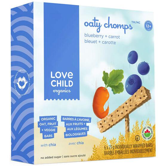 Love Child Oaty Chomps Bars- Blueberry Carrot - 6 x 23g