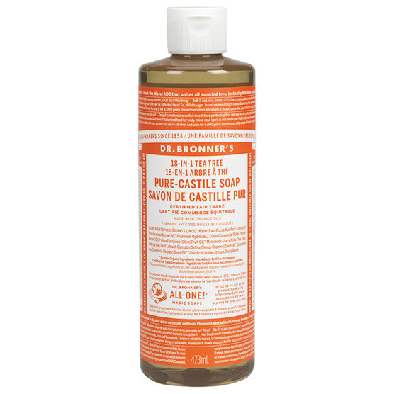 Dr. Bronner's 18-IN-1 Pure-Castile Liquid Soap - Tee Tree- 473ml