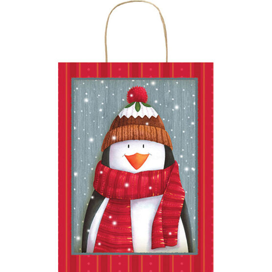 Christmas Penguin Gift Bag - Large - 14243935-BARO