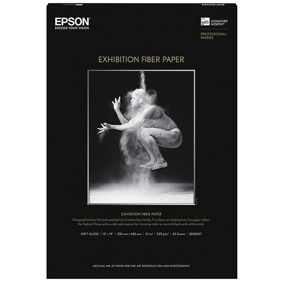 Epson Exhibition Fibre Paper - 13 x 19 inch - 25 sheets