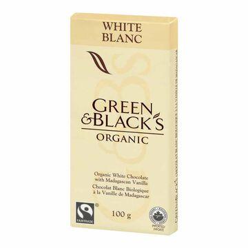 Green & Blacks Organic Chocolate Bar - White Chocolate - 100g