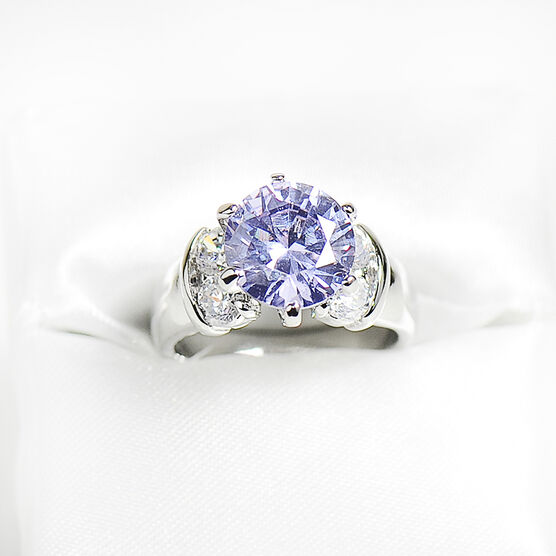 Marca Amy Clear Cubic Zirconia Ring - Size 8
