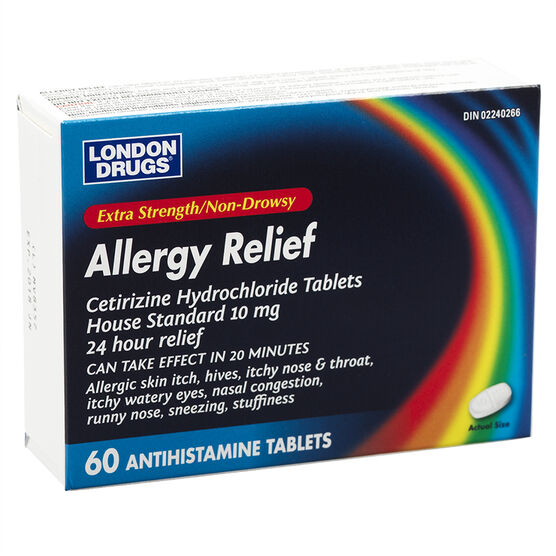 London Drugs Allergy Relief - Extra Strength - 60's
