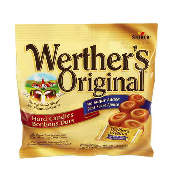 Werther's Original No Sugar Added Hard Candies - 70g