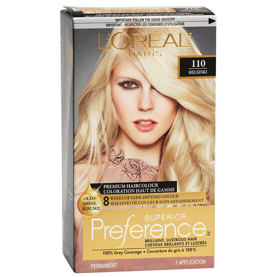 L'Oreal Superior Preference Fade-Defying Colour & Shine System - 110 Very Light Ash Blonde