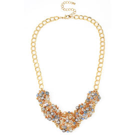 Haskell Frontal Necklace - Blue/Gold