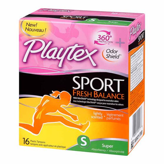 Playtex Sport Fresh Balance Tampons - Super - 16's