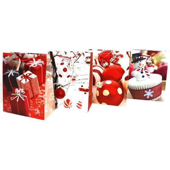 Christmas Holiday Photo Gift Bag - Assorted - Large