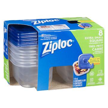 Ziploc Square Containers - X-Small - 8's