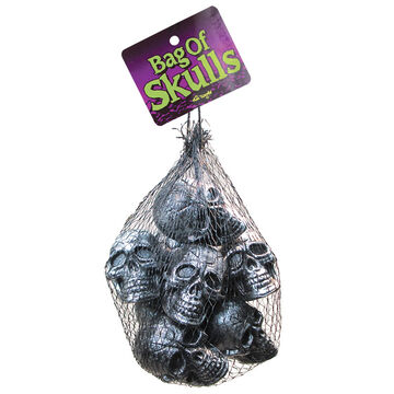 Halloween Bag of Skulls - Metallic