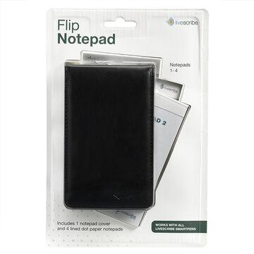 Livescribe Flip Notebook - 4 pack - Black Cover - ANA-00037