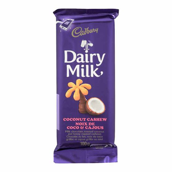 Cadbury Coconut Cashew Bar - 100g