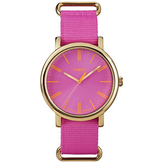 Timex Women's Fashion Watch - Pink/Gold - T2P364AW