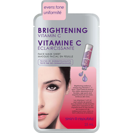 Skin Republic Brightening Vitamin C Face Mask Sheet - 25ml