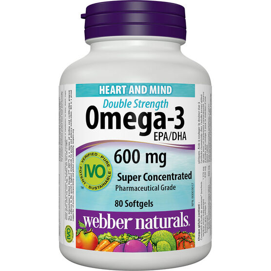Webber Naturals Omega-3 Super Concentrate 600mg - 80's