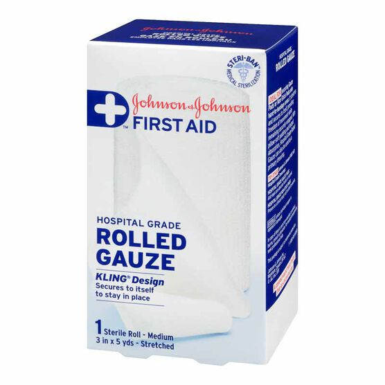 Johnson & Johnson Rolled Gauze - 7.5cm x 4.5m