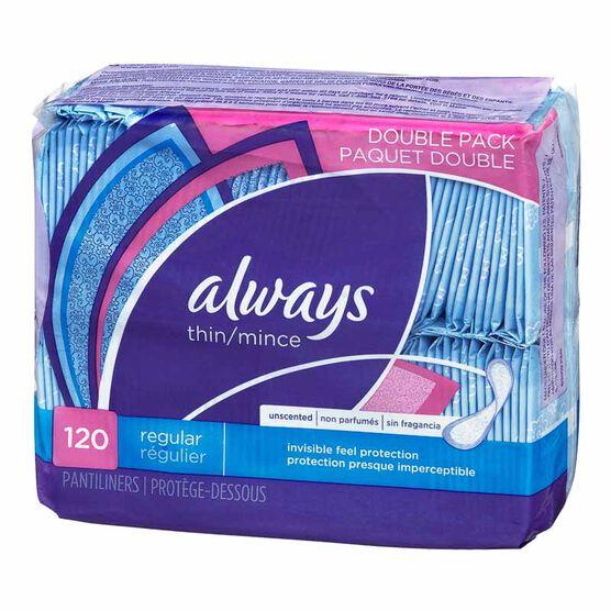Always Pantiliners - Thin Regular - 120's - 10796