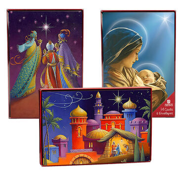 American Greetings Christmas Cards - Religious - 14 count - Assorted