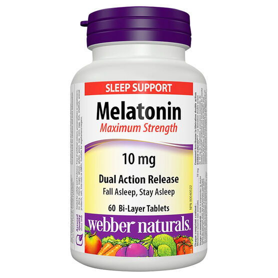 Webber Naturals Melatonin 10mg - Dual Action Release Tablets - 60's