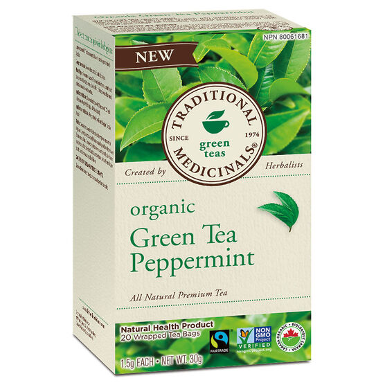 Traditional Medicinal Premium Tea - Green Tea with Peppermint - 20's