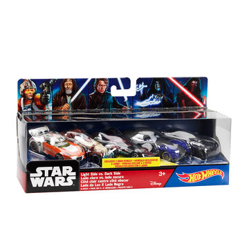 Hot Wheels Star Wars - Light Side VS Dark Side - Assorted - 3 Pack