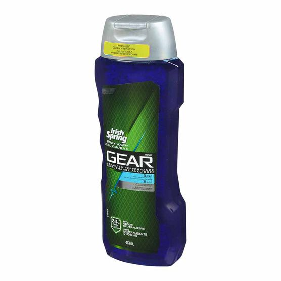 Irish Spring Gear Bodywash - 3in1 - 443ml