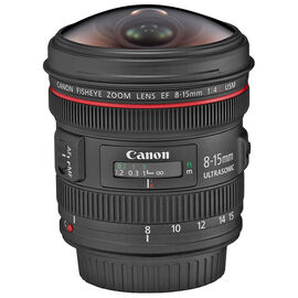 Canon EF 8-15mm F/4L Fisheye USM Lens - 4427B002