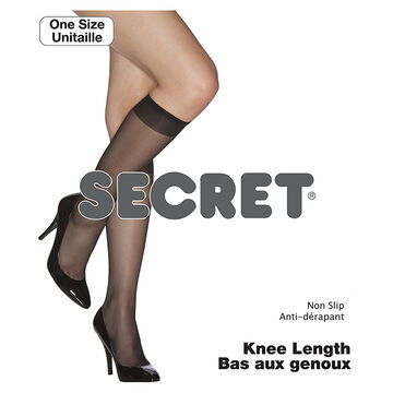 Secret Knee Length Non-Slip Sock - Naturelle