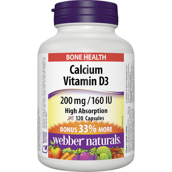 Webber Calcium Magnesium with D3 2:1 Ratio 250/125mg - 90's