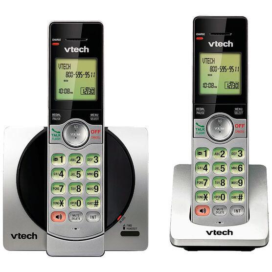 VTech 2 Handset Cordless Phone - Silver - CS69192