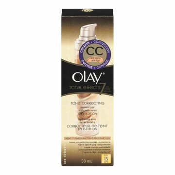 Olay CC Cream Total Effects 7-in-1 Tone Correcting Moisturizer with SPF 15 - Light to Medium - 50ml