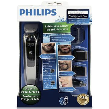 Philips 7 Piece Multigroom Plus Kit - Grey - QG3364/16