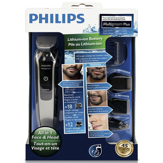 Philips 7 Piece Multigroom Plus Kit - Grey - QG3364/16