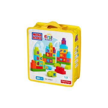 Mega Bloks First Builders ABC Spell - 40 Pieces - DKX58