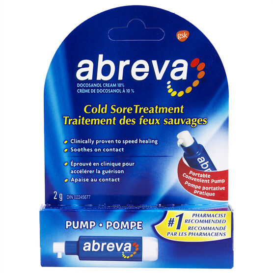 Abreva Cold Sore Treatment Pump - 2g