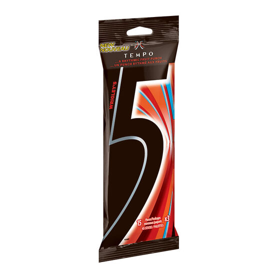 Wrigley 5 Tempo Gum - Fruit Punch - 3 pack
